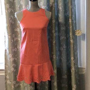 Preowned Ann Taylor Loft sz 00P coral dress